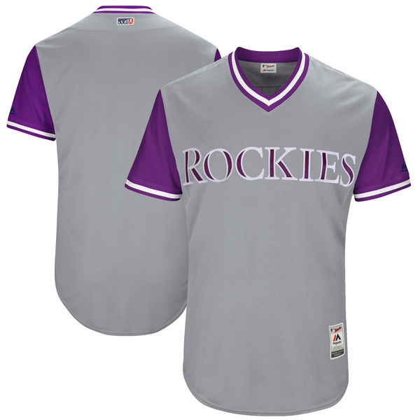 Rockies Majestic Gray 2017 Players Weekend Team Jersey