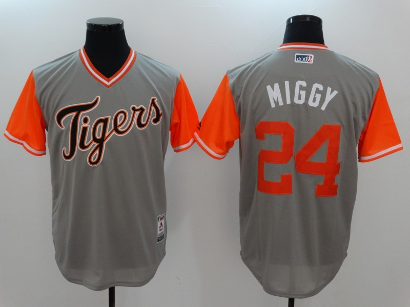 Tigers 24 Miguel Cabrera Miggy Majestic Gray 2017 Players Weekend Jersey