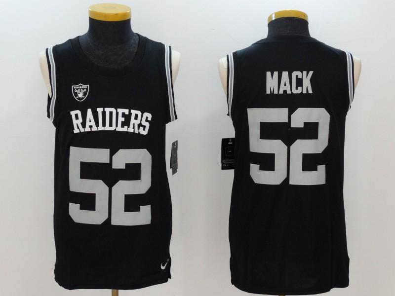 Nike Raiders 52 Khalil Mack Black Color Rush Men's Tank Top