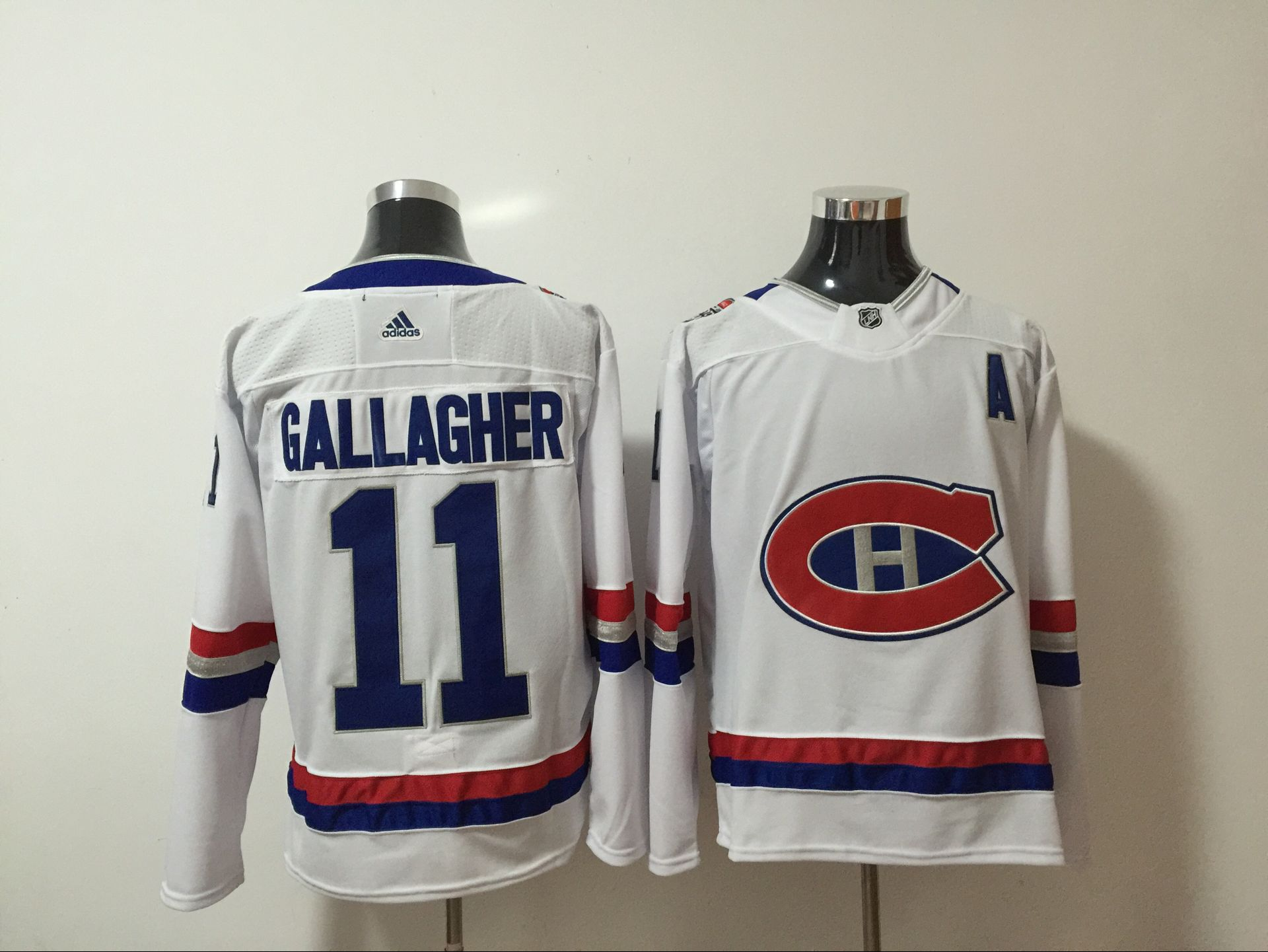 Canadiens 11 Brendan Gallagher White 2017 NHL 100 Classic Adidas Jersey