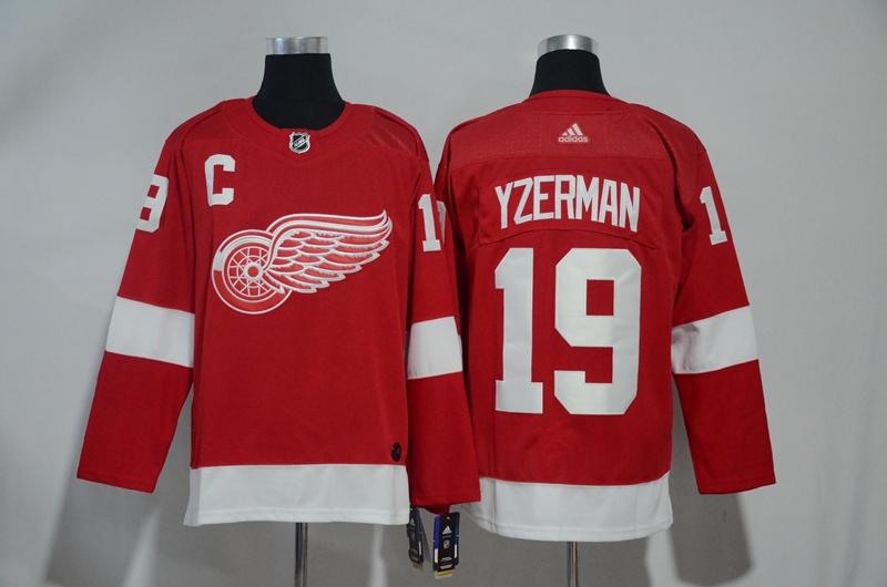 Red Wings 19 Steve Yzerman Red Adidas Jersey