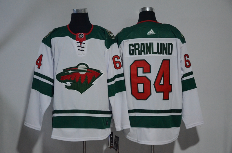 Wild 64 Mikael Granlund White Adidas Jersey