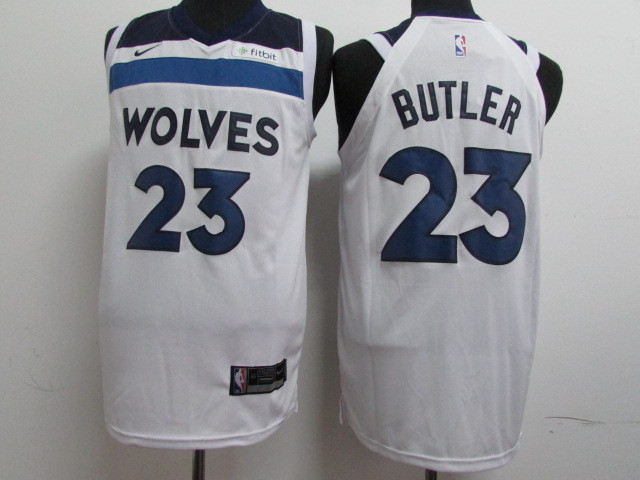 Timberwolves 23 Jimmy Butler White Nike Authentic Jersey