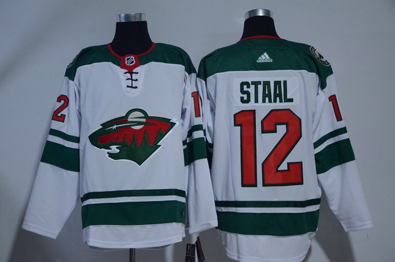 Wild 12 Eric Staal White Adidas Jersey
