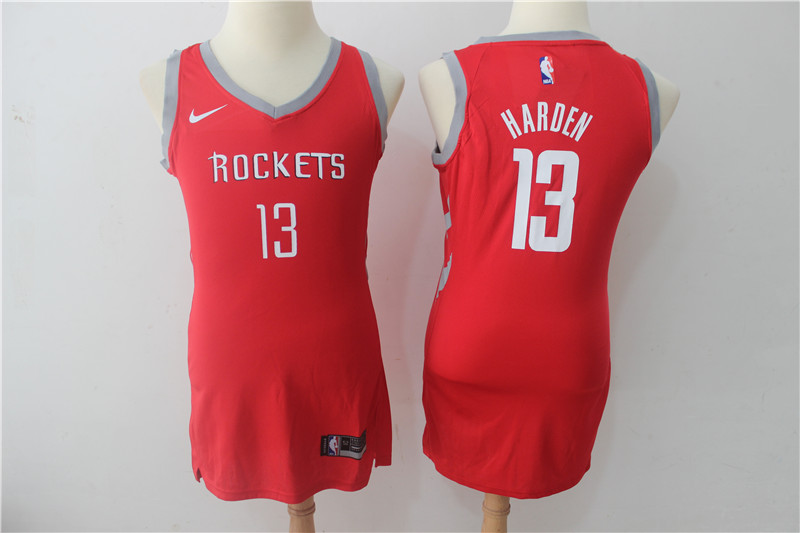 Rockets 13 James Harden Red Women Nike Swingman Jersey