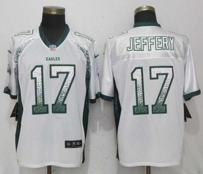 Nike Eagles 17 Alshon Jeffery White Drift Fashion Elite Jersey