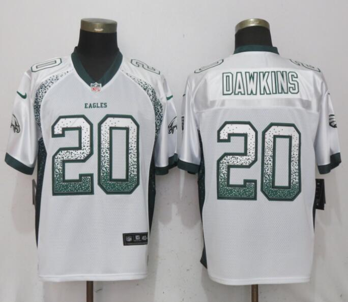 Nike Eagles 20 Brian Dawklns White Drift Fashion Elite Jersey