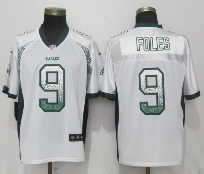 Nike Eagles 9 Nick Foles White Drift Fashion Elite Jersey