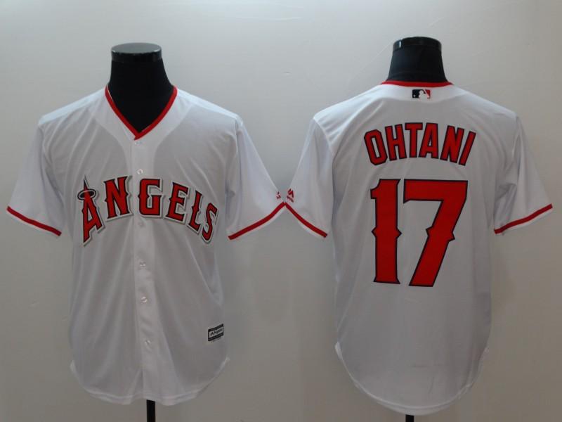 Angels 17 Shohei Ohtani White Cool Base Jersey