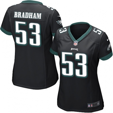 Nike Eagles 53 Nigel Bradham Black Women Game Jersey