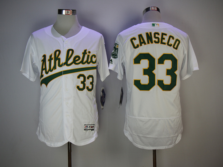 Athletics 33 Jose Canseco White Cool Base Jersey