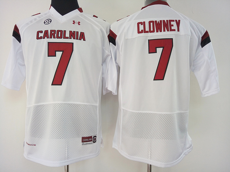 South Carolina Gamecocks 7 Jadeveon Clowney White College Football Jersey