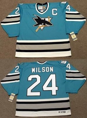 Sharks 24 Doug Wilson Teal CCM Jersey