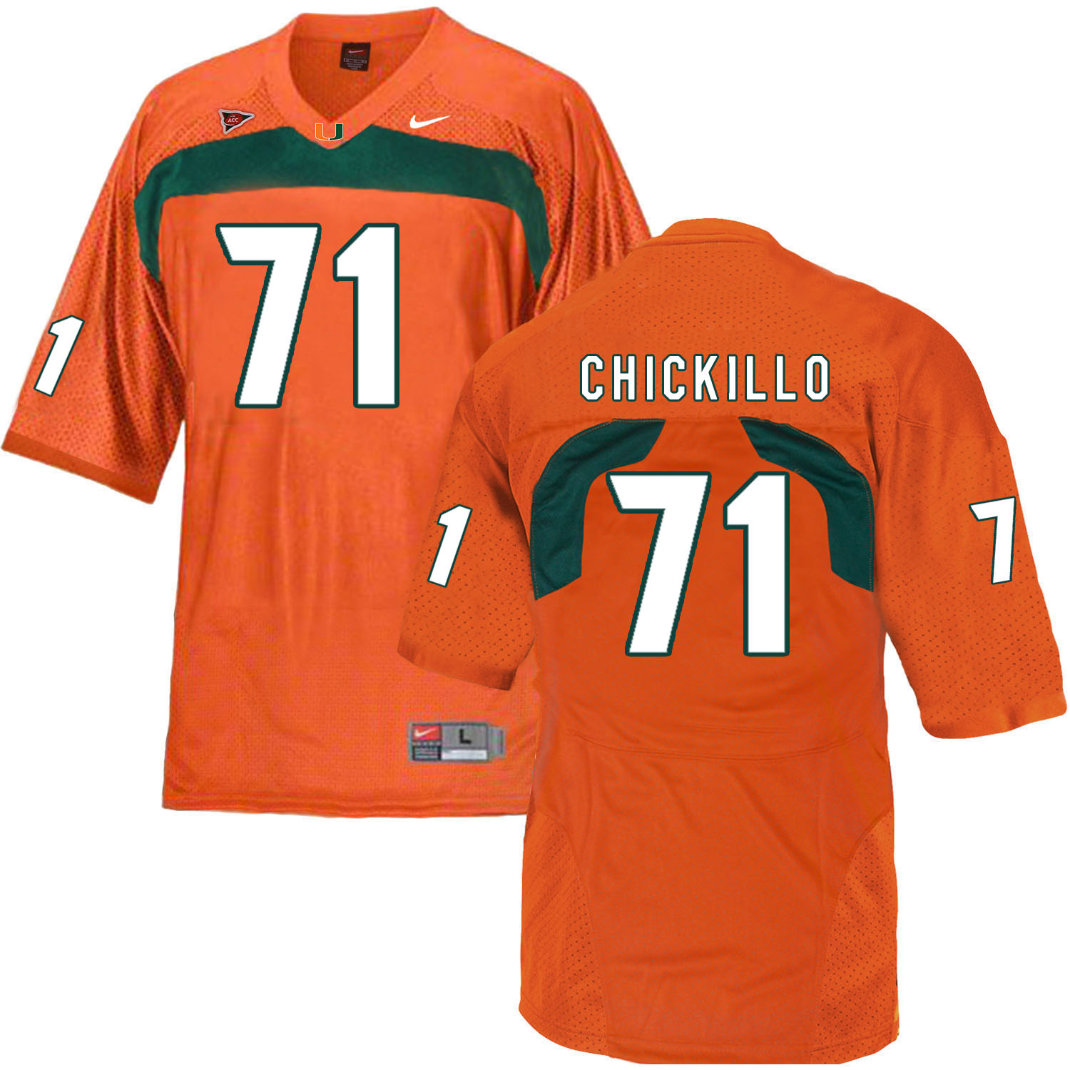 Miami Hurricanes 71 Anthony Chickillo Orange College Football Jersey