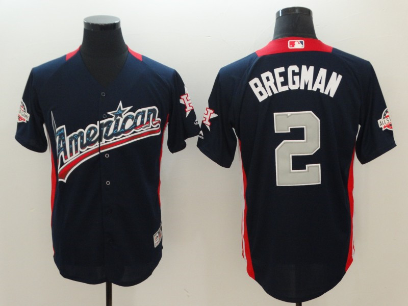 American League 2 Alex Bregman Navy 2018 MLB all-star Game Home Run Derby Jersey