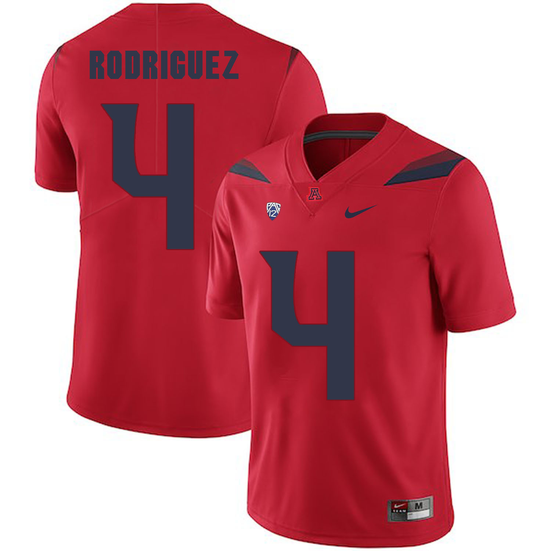 Arizona Wildcats 4 Rhett Rodriguez Red College Football Jersey