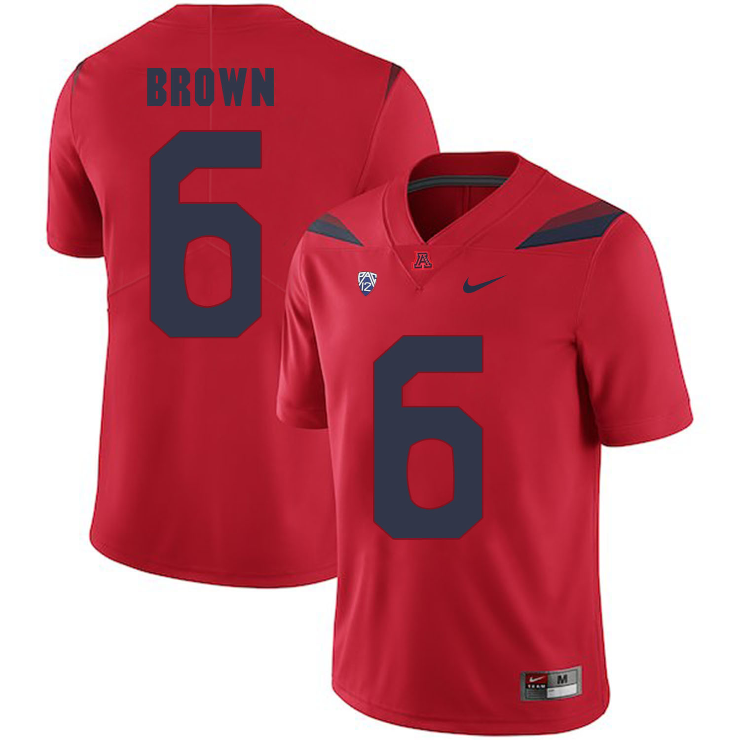 Arizona Wildcats 6 Shun Brown Red College Football Jersey