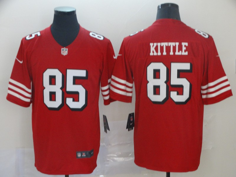 Nike 49ers 85 George Kittle Red Color Rush Vapor Untouchable Limited Jersey