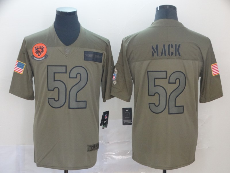 Nike Bears 52 Khalil Mack 2019 Olive Salute To Service Limited Jersey