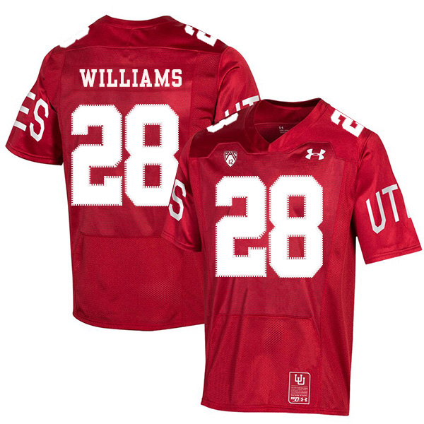 Utah Utes 28 Joe Williams Red 150th Anniversary College Football Jersey