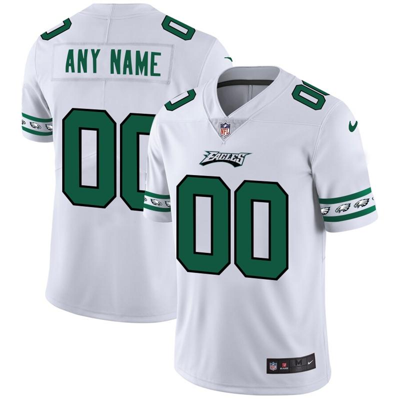 Nike Eagles White Men's Customized 2019 New Vapor Untouchable Limited Jersey