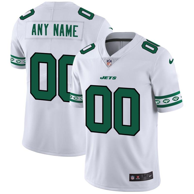 Nike Jets White Men's Customized 2019 New Vapor Untouchable Limited Jersey