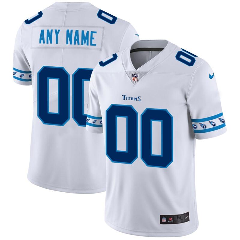 Nike Titans White Men's Customized 2019 New Vapor Untouchable Limited Jersey