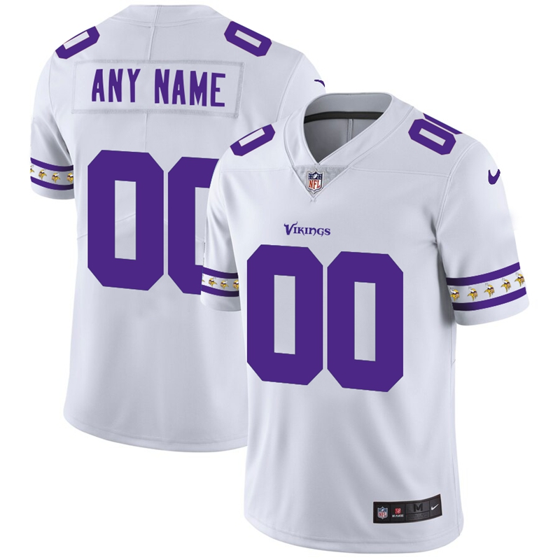 Nike Vikings White Men's Customized 2019 New Vapor Untouchable Limited Jersey