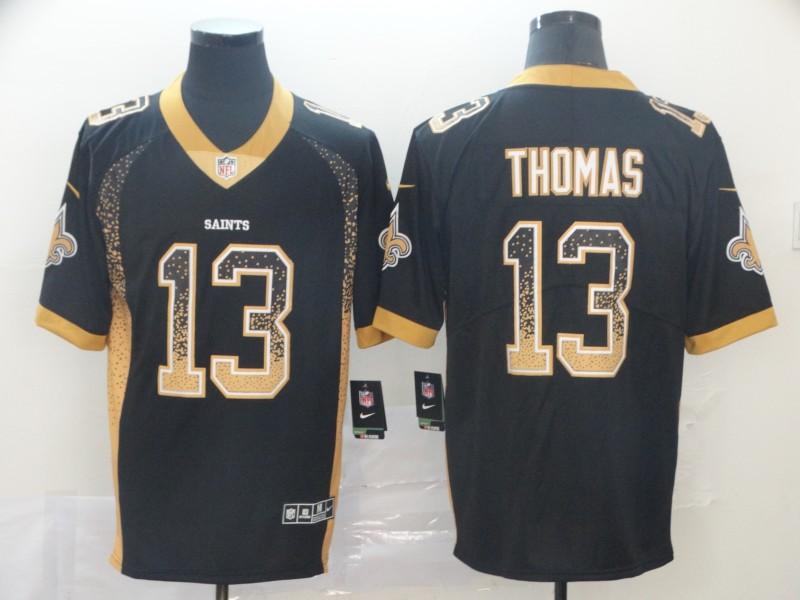 Nike Saints 13 Michael Thomas Black Drift Fashion Limited Jersey