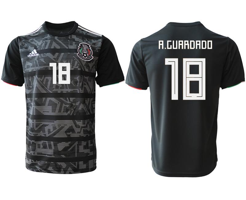 2019-20 Mexico 18 A.CUARDADO Away Thailand Soccer Jersey