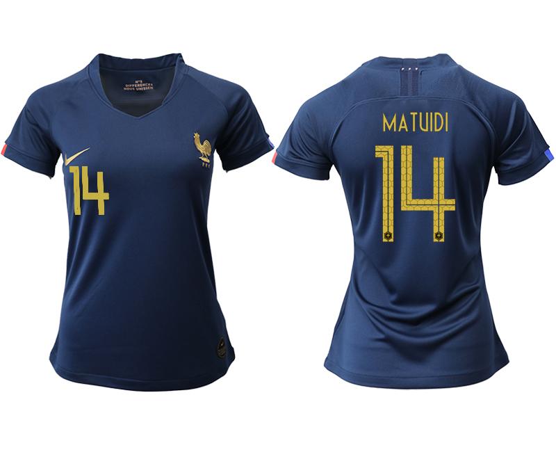 2019-20 France 14 MATUIDI Homen Women Soccer Jersey