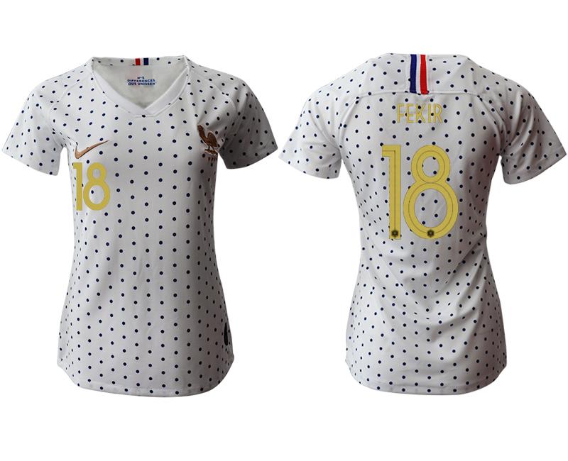 2019-20 France 18 FEKIR Away Women Soccer Jersey