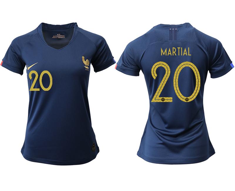 2019-20 France 20 MARTIAL Homen Women Soccer Jersey