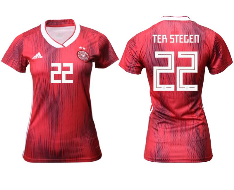 2019-20 Germany 22 TER STEGEN Away Women Soccer Jersey