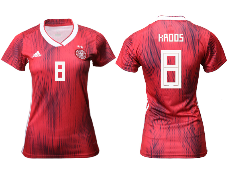 2019-20 Germany 8 KRDOS Away Women Soccer Jersey