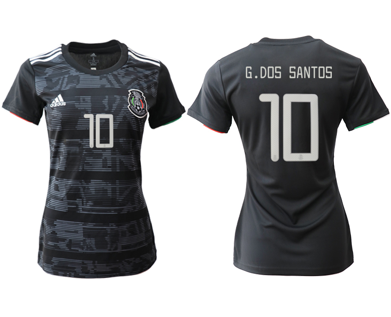 2019-20 Mexico 10 G.DOS SANTOS Home Women Soccer Jersey