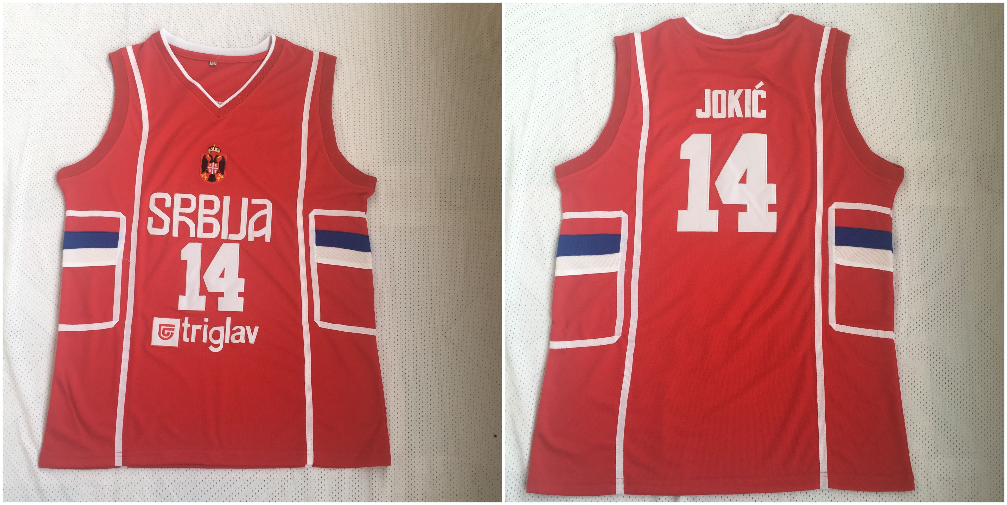 Serbia 14 Nikola Jokic Red Retro Classic Stitched Basketball Jersey