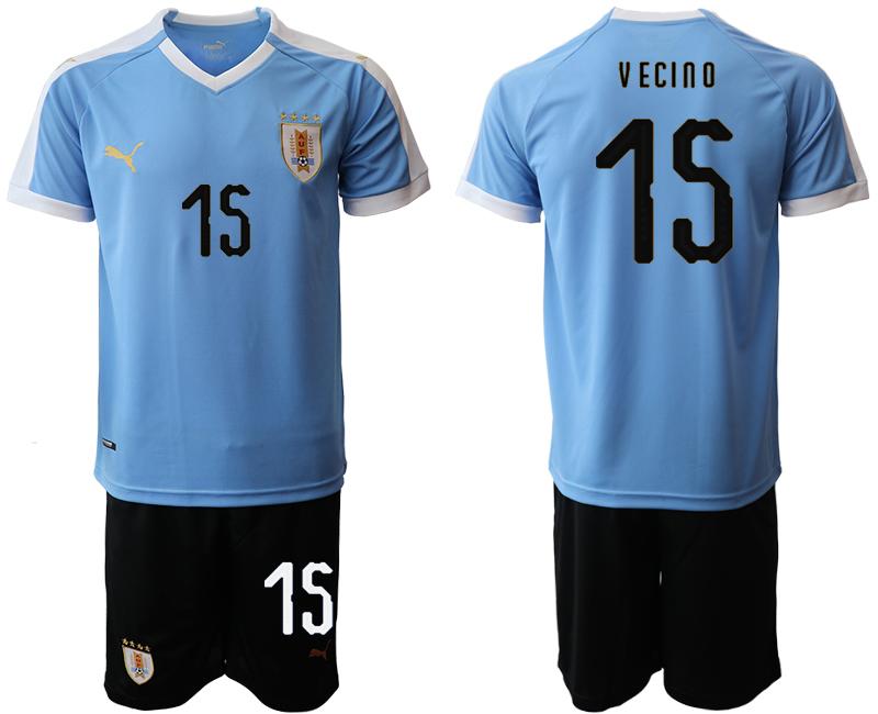 2019-20 Uruguay 15 V ECINO Home Soccer Jersey