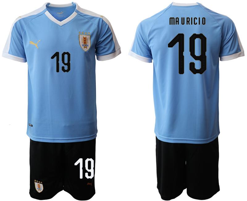 2019-20 Uruguay 19 MA U RICI O Home Soccer Jersey