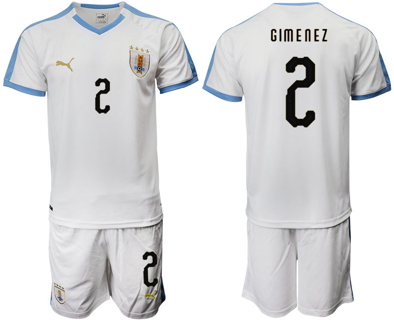 2019-20 Uruguay 2 GIM E N E Z Away Soccer Jersey