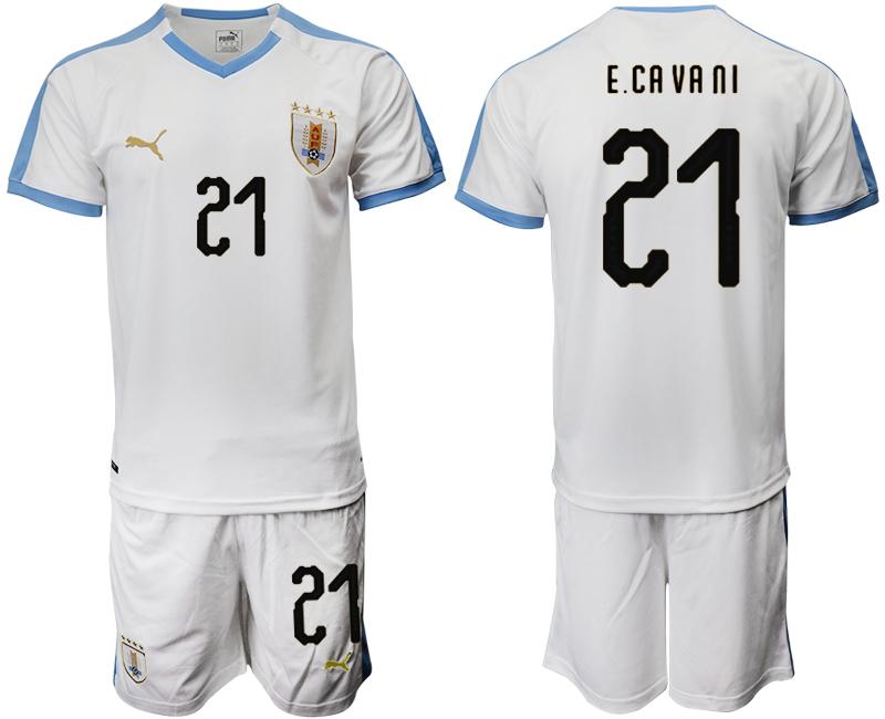 2019-20 Uruguay 21 ECA VA NI Away Soccer Jersey