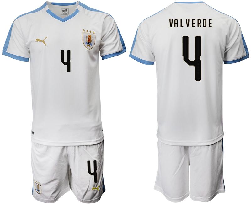 2019-20 Uruguay 4 VA L V ERDE Away Soccer Jersey