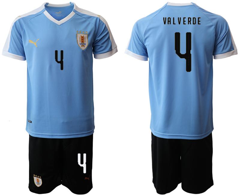 2019-20 Uruguay 4 VA L VERDE Home Soccer Jersey