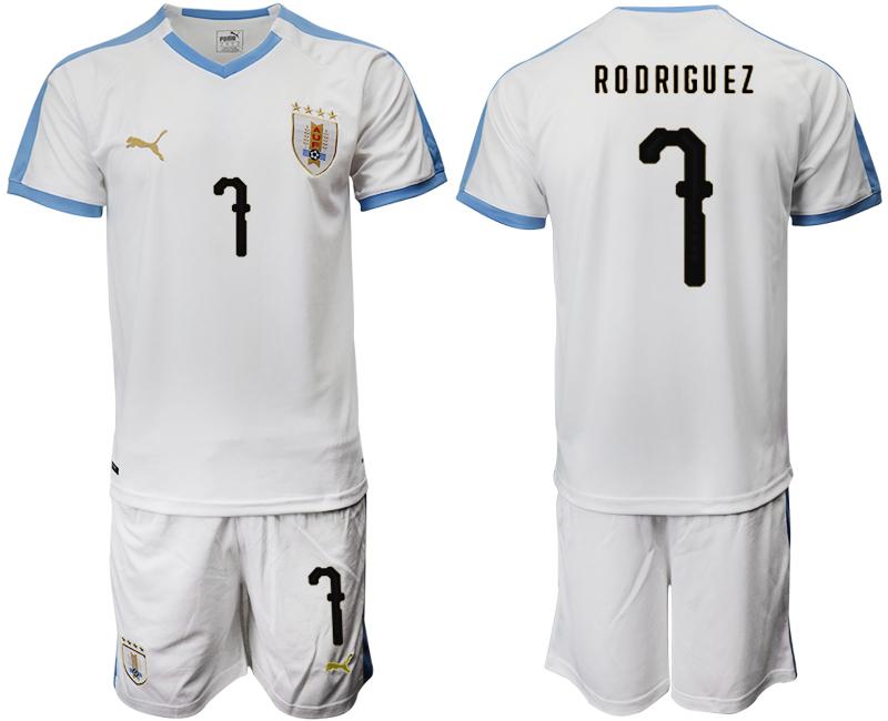 2019-20 Uruguay 7 RODRIGUEZ Away Soccer Jersey