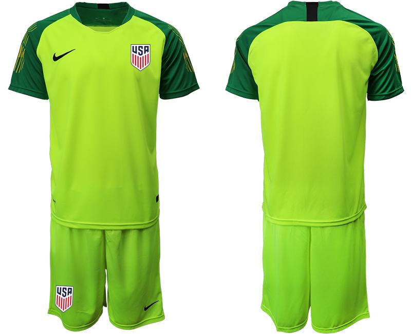 2019-20 USA Fluorescent Green Goalkeeper Soccer Jersey