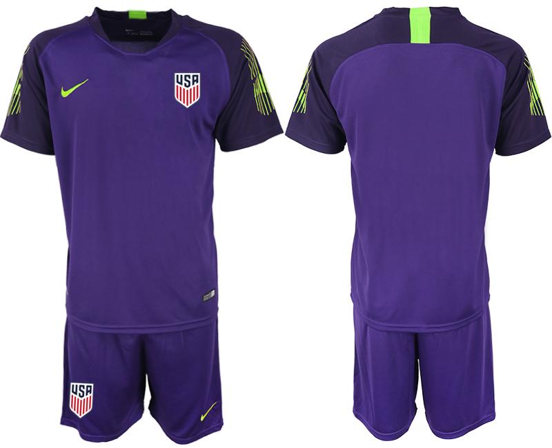 2019-20 USA Purple Goalkeeper Soccer Jersey
