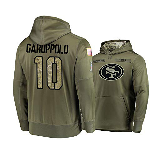 Nike 49ers 10 Jimmy Garoppolo 2019 Salute To Service Stitched Hooded Sweatshirt