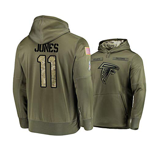 Nike Falcons 11 Julio Jones 2019 Salute To Service Stitched Hooded Sweatshirt