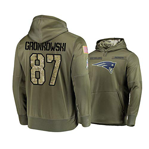 Nike Patriots 87 Rob Gronkowski 2019 Salute To Service Stitched Hooded Sweatshirt