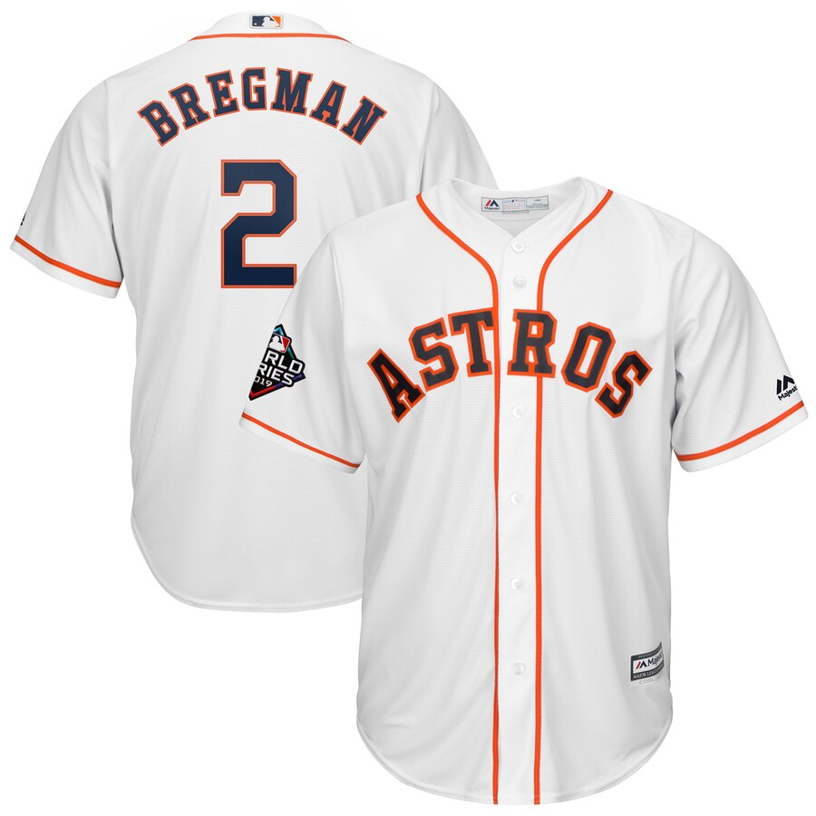 Astros 2 Alex Bregman White 2019 World Series Bound Cool Base Jersey